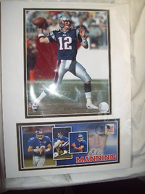 Tom Brady~Eli Manning~NFL~Matted USPS Photo and Event Cover 12 x 16, used for sale  Newport