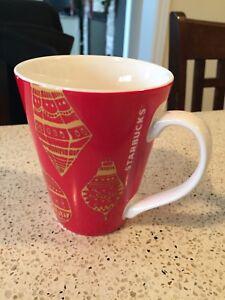 2015 Starbucks ~ Christmas Ornaments ~ Red Coffee Cup Mug