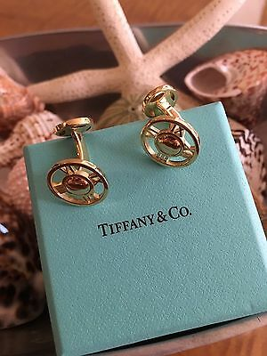 Tiffany 18k Yellow Gold Atlas Men's Cuff Links