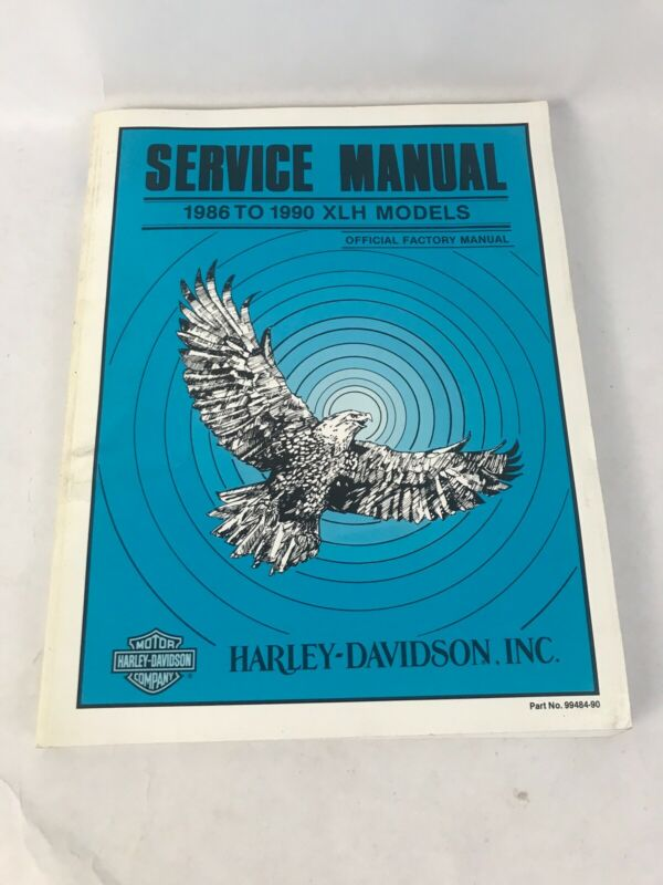 Harley Davidson Service Manual 1986 to 1990 XLH Models Official Factory Manual
