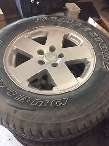 07-17 Jeep Wrangler rims and tires