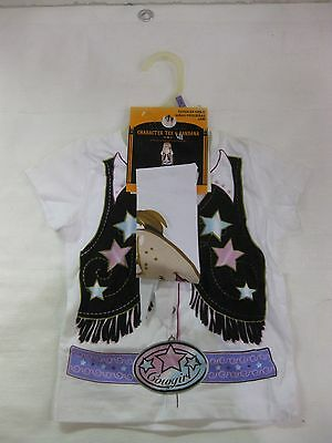 Halloween Charakter T-Shirt & Kopftuch Cowgirl für Kleinkind 24m Neu h13