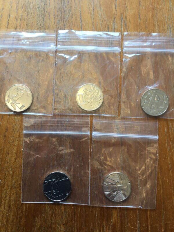 UK 10 Pence 2018 BU Alphabet Coins 5 Lot From Mint