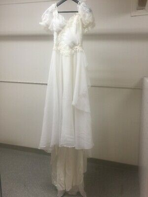 Alfred Angelo Dream Maker Vintage 1980's White Wedding Dress Women's Lace Beads