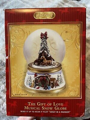 Breyer Holiday The Gift Of Love Musical Christmas Snow Globe Mare And Foal NIB