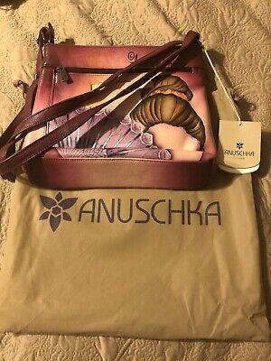Anuschka Leather Cross Body Organizer- Anna Unique Art - Flamenco Fiesta
