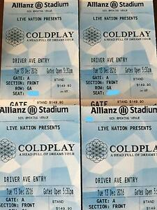 Single Coldplay Gold Standing Tickets - 13th Dec Canterbury Canterbury Area Preview