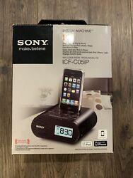 Sony Dream Machine Alarm Clock Radio for iPhone/iPod - ICF-C05IP, Black.