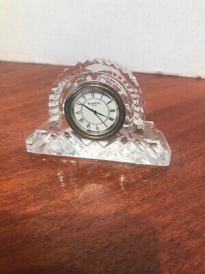 Waterford crystal Vintage Irish Crystal Cottage Clock lismore, used for sale  New Hope