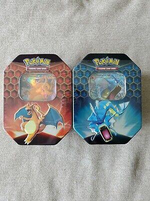 Pokemon TCG: Hidden Fates Charizard GX Tin Lot Of 2 Brand New Factory Sealed