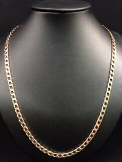 9ct Yellow Gold Flat Curb Chain Necklace 50cm NEW MAKE OFFER!! Clayton Monash Area Preview