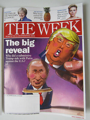 The Week Magazine July 27 2018 Donald Trump Vladimir Putin Scarlett Johansson