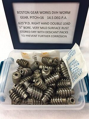 Dvh Boston Gear Steel Worm Gear 16 Pitch Double Lead For Lathe Machine Clock Etc