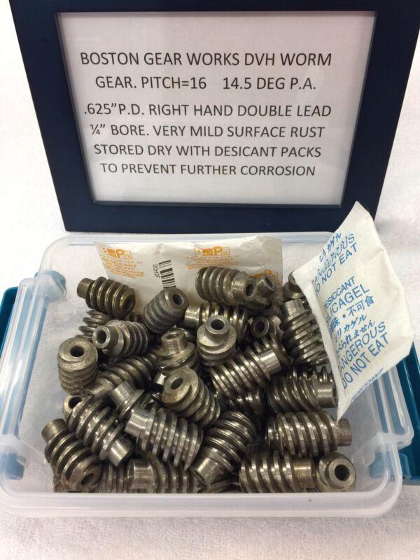 DVH BOSTON GEAR STEEL WORM GEAR 16 PITCH DOUBLE LEAD FOR LATHE MACHINE CLOCK ETC