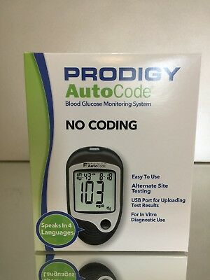 Prodigy Diabetic Blood Glucose speaking Meter.  No Coding.  FAST FREE SHIPPING