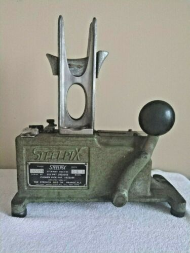 Vintage Professional Steelpix Floral Stemming Machine Model 35B