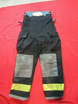 Mfg.2002 Black Gear Bunker Pants 36 X 30 Turnout Fdny Style Fire Quaker