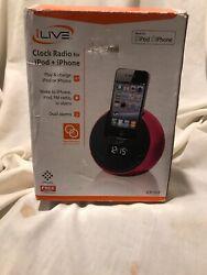 NEW! iLIVE Digital Clock Radio Dock Ipod / Iphone AC/DC Adapter Included ICP101P