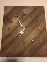 """10""""x12"""" Vintage Wall Clock Rustic Decor Silent Non Ticking Wall Clock Quartz"""