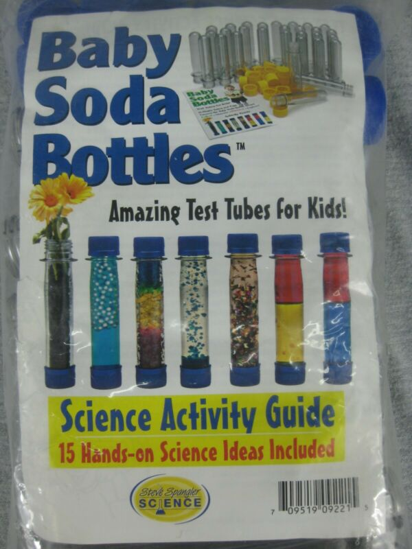 Baby Soda Bottle Set Of 15 Clear Waterproof Storage Container Cache Tube