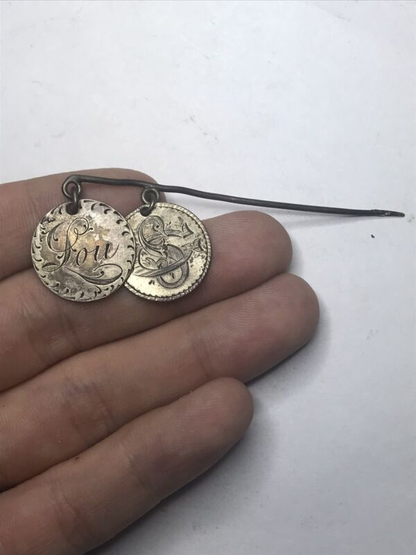 Seated Dimes Love Token Pin Extreme Detail