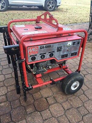 Multiquip Generator Ga-6ha 6000 Watt Honda Engine. Contractor Grade. Runs Great