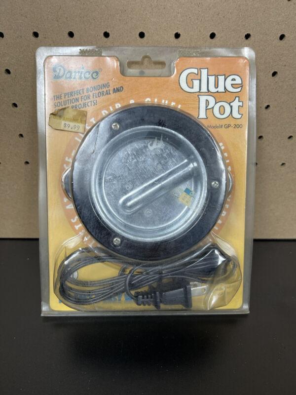 Darice Hot Temp Glue Pot Hands Free in Original Packaging NEW