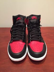 PADS Air Jordan 1 Bred size 13.  2016 release of all
