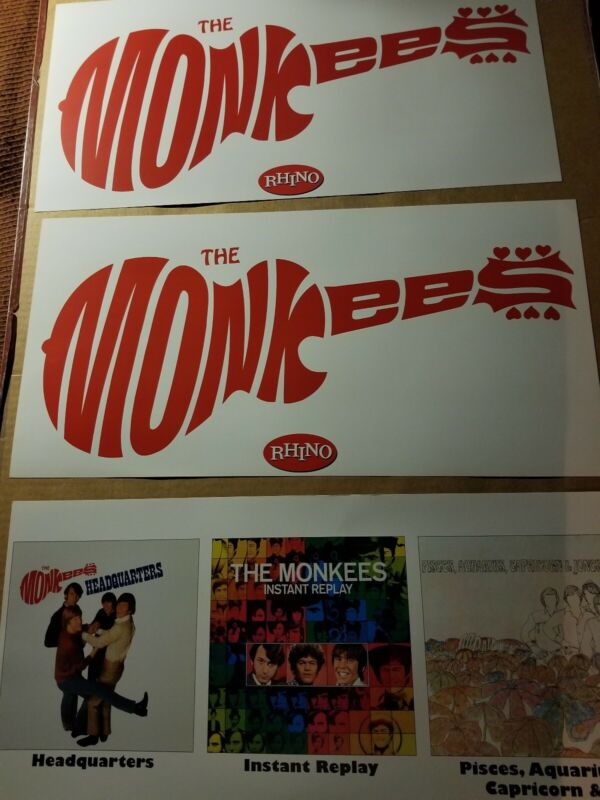 THE MONKEES SET OF 3 2 SIDED POSTERS