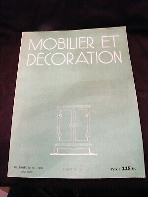 Furniture and Decoration December 1948 Jacques Adnet Rouard Perzel