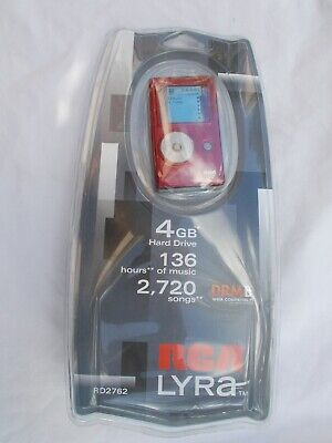 VTG New RCA LYRA Jukebox RED MP3 Player & Accessories 4GB 136Hrs DRM RD2762
