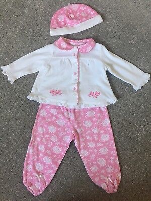 Little Me Baby Girl Jacket, Leggings And Hat. 6 Months