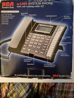 Rca Telephone 25414re3-a Executive Series 4line System Phone With Intercom