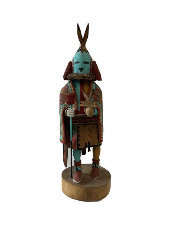 Signed Hopi Aholi Chief Kachina By Tino Yuvella