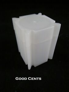 100 Half Dollar Coin Safe Plastic Square Coin Tubes - Coin Supplies