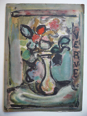 Georges Rouault, LISTED RARE COLOR LITHOGRAPH Old Print MODERN MODERNISM FLORAL