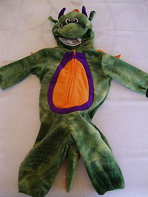 3 Headed Dragon Halloween Costume (NEW Halloween Theater Koala Kids Full Green Purple Dragon Costume 3D Head 6m)