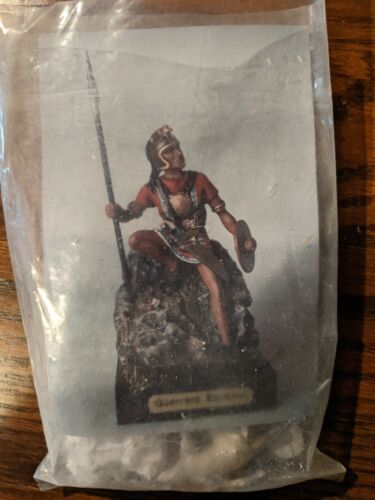 54MM Ancient Warrior with Spear and Shield Metal Figure Kit
