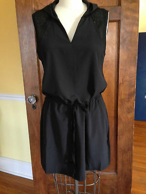 Fabletics L NWT Black Stretch Sleeveless After Workout  Dress