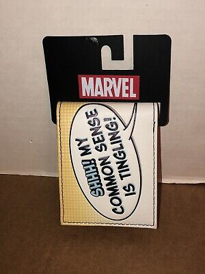 Bioworld Official Bifold Wallet- Marvel- Deadpool Common Sense Wallet NEW