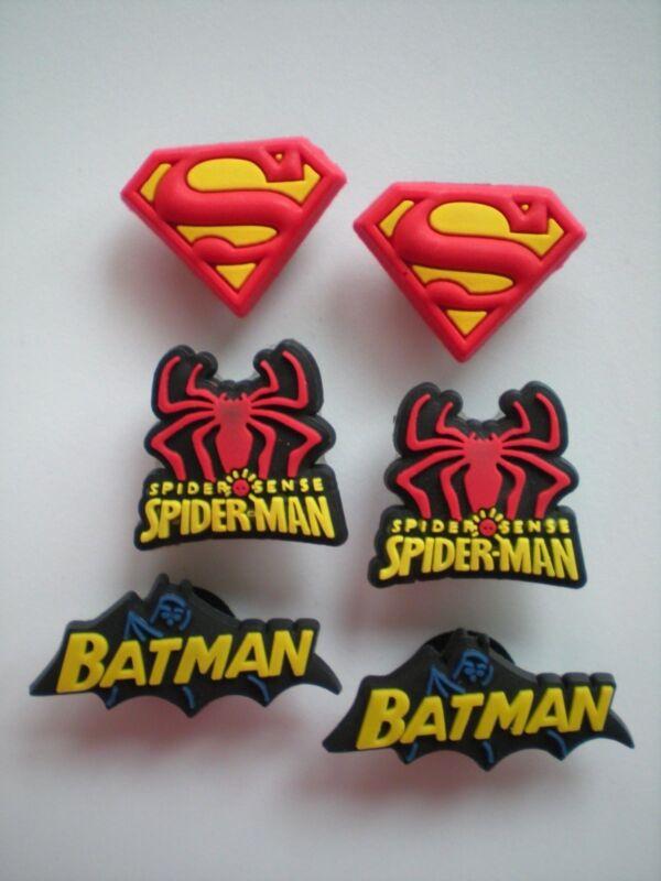 Clog Shoe Charm Plug Buttons Holey Sandal Jewelry Accessories SuperMan BatMan