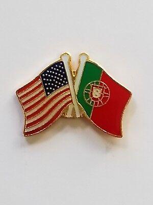 USA Flag American Flag Portugal Flag Crossed Flag Lapel Hat Pin Tie Tac FST SHIP
