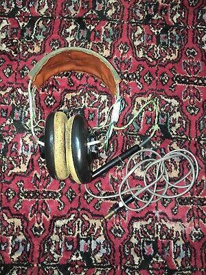 WWII Aviation Headphones Head Set Receiver Anb-h-1 1 Aviation Headset