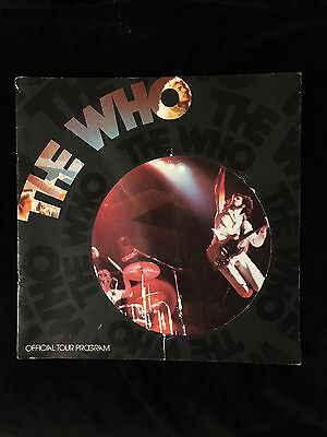 THE WHO-BY NUMERS TOUR-1975-CONCERT PROGRAM BOOK-PETE TOWNSHEND-ROGER DALTREY