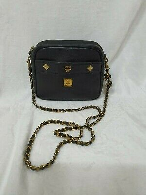 AUTHENTIC MCM Leather Chain Clossbody