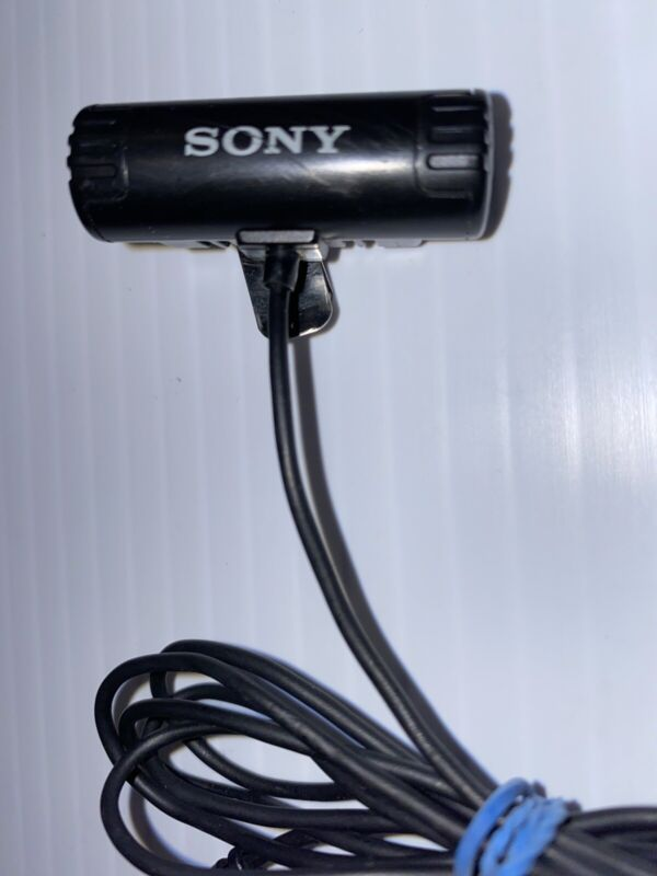 Rare Vintage Sony Clip-On Stereo Microphone 1.5 Inch Black