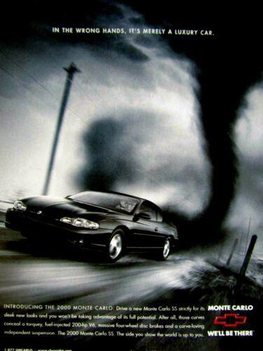 "2000 Chevrolet  Monte Carlo Original Print Ad 8.5 x 10.5"""