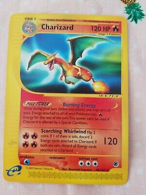 Pokemon 2002 Expedition Base Set CHARIZARD 40/165 E-reader