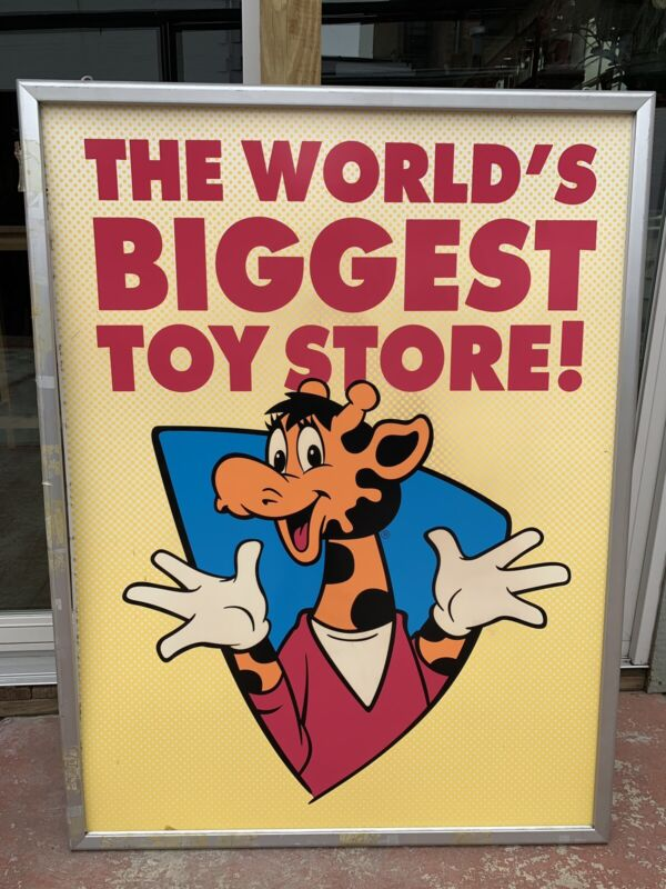"""Toys R Us """"The World's Biggest Toy Store"""" Window Poster Sign"""