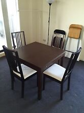 IKEA BJURSTA extendable table and BÖRJE dining chairs Carlingford The Hills District Preview